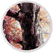 Colors And Texture  Round Beach Towel