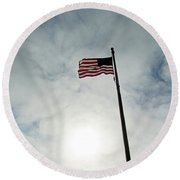 Colors Flying Round Beach Towel
