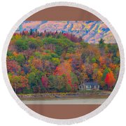 Colors In Canada Round Beach Towel