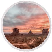 Colors In Monument Round Beach Towel