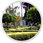 Round Beach Towel featuring the photograph Colors In The Garden by Glenn McCarthy Art and Photography