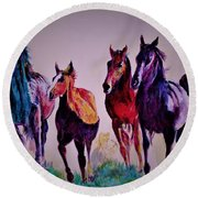 Colors In Wild Round Beach Towel