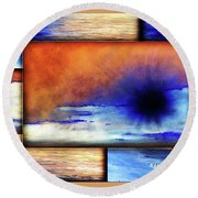 Colors Of Beach Round Beach Towel
