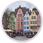 Colors Of Germany Round Beach Towel