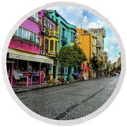 Colors Of Istanbul Round Beach Towel