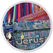 Colors Of Jerusalem Round Beach Towel