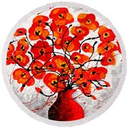 Colors Of Love Round Beach Towel by Leon Zernitsky