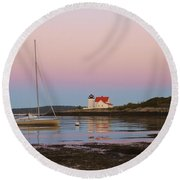 Colors Of Morning Round Beach Towel