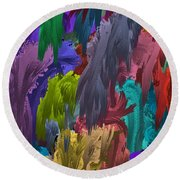 Colors Of Palette Water Colors Round Beach Towel
