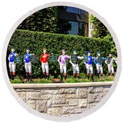 Colors Of Past Stakes At Keeneland Ky Round Beach Towel by Chris Smith
