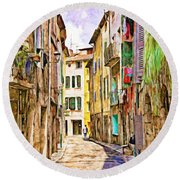 Colors Of Provence, France Round Beach Towel