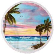 Colors Of Siesta Key Round Beach Towel
