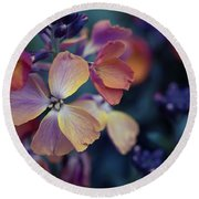 Colors Of Spring Round Beach Towel