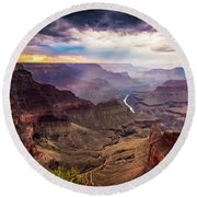 Colors Of The Canyon Round Beach Towel