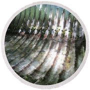 Round Beach Towel featuring the photograph Colors Of The Culvert by Marie Neder