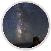 Round Beach Towel featuring the photograph Colors Of The Night by Alex Lapidus