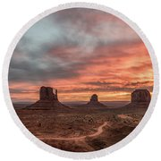 Colors Of The Past Round Beach Towel
