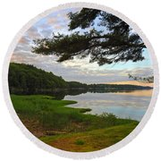 Colors Of The River Round Beach Towel