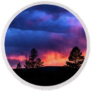 Colors Of The Spirit Round Beach Towel