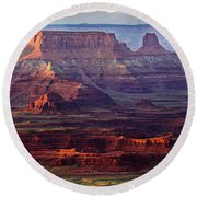 Colors Of Utah Round Beach Towel