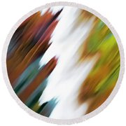 Colors Of Water Round Beach Towel