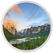 Colors Of Yosemite Round Beach Towel