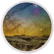 Colors On The Rise Round Beach Towel