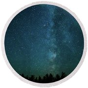 Colors Over The Milky Way Round Beach Towel