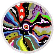 Colors Revised Round Beach Towel