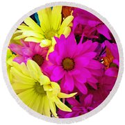 Round Beach Towel featuring the photograph Colors by Robert Knight