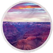 Grand Canyon Sunrise Round Beach Towel