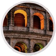 Colosseum In Rome, Italy Round Beach Towel