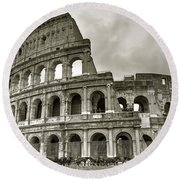 Colosseum  Rome Round Beach Towel