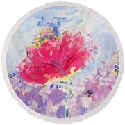 Colour Me Sweetly Round Beach Towel