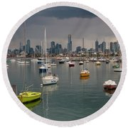 Colour Of Melbourne 2 Round Beach Towel