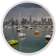 Colour Of Melbourne 2 Round Beach Towel by Werner Padarin