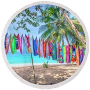 Colourful Cove Round Beach Towel
