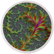 Colourful Fronds Round Beach Towel