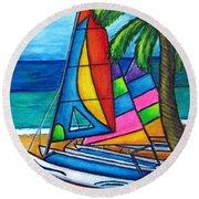 Colourful Hobby Round Beach Towel