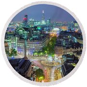 Colourful London Round Beach Towel