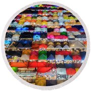 Colourful Night Market Round Beach Towel