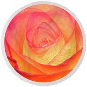 Round Beach Towel featuring the photograph Colourful Rosie by Roy McPeak