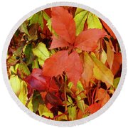 Colours Of Autumn Round Beach Towel