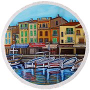 Colours Of Cassis Round Beach Towel
