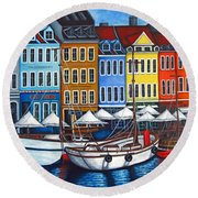 Colours Of Nyhavn Round Beach Towel