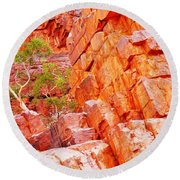 Colours Of Ormiston Gorge, Northern Territory Round Beach Towel