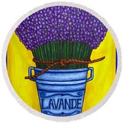 Colours Of Provence Round Beach Towel