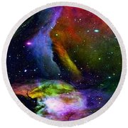 Colours Of The Universe Round Beach Towel