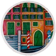 Colours Of Venice Round Beach Towel