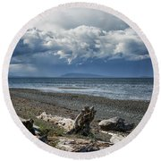 Columbia Beach Round Beach Towel by Randy Hall